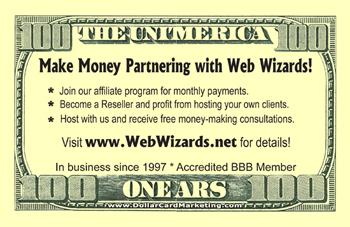 Free Dollar Bill Business Card Winner - January 2009