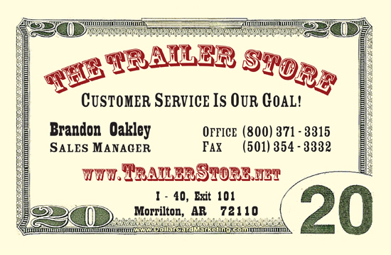 Brandon Oakley - June Dollar Business Card Winner