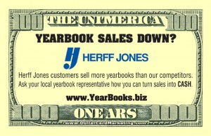 Herff Jones Yearbook business card