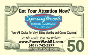 SpringBrook Power Washing business cards