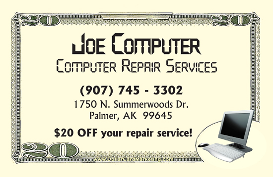 computer repair business cards