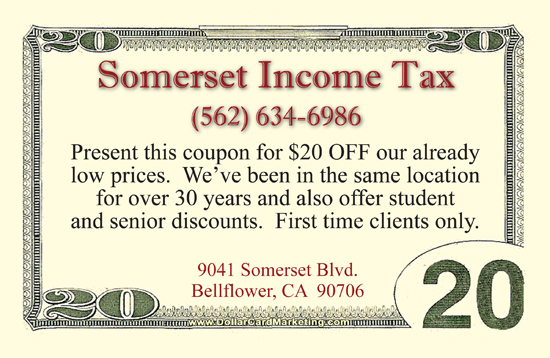 Tax Preparer Business Cards Dollar